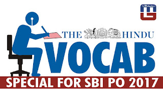 THE HINDU VOCABULARY | 09.03.2017 | IMPORTANT FOR SBI PO