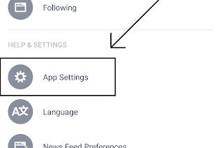 klik app setting facebook