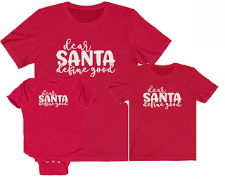 dear santa define good shirt