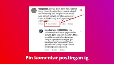 Cara Menyematkan Komentar Di Postingan Instagram
