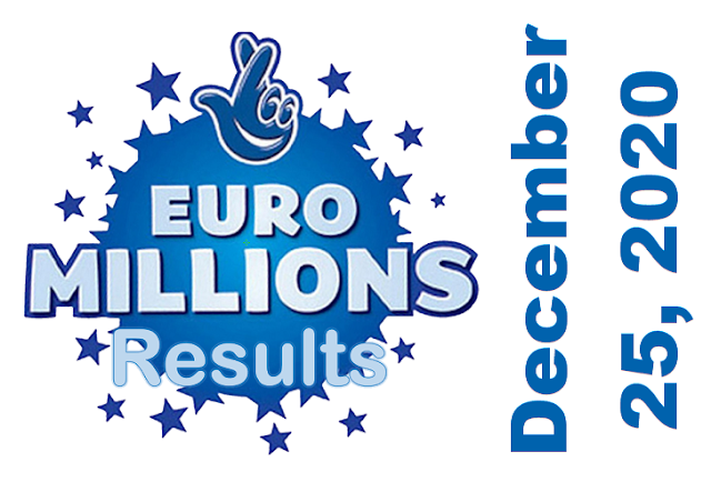 EuroMillions Results for Friday, December 25, 2020