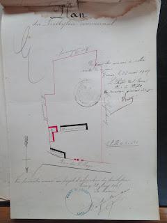 plan ancien presbytère 1907 Corny Eure 27