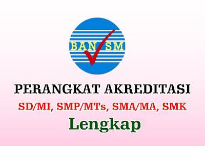 PERANGKAT AKREDITASI SD/MI, SMP/MTs, SMA/MA, SMK  - TERBARU