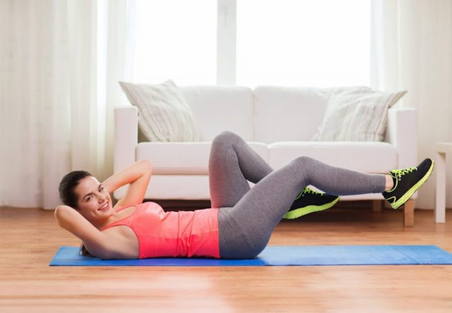 Work abs with leg extension
