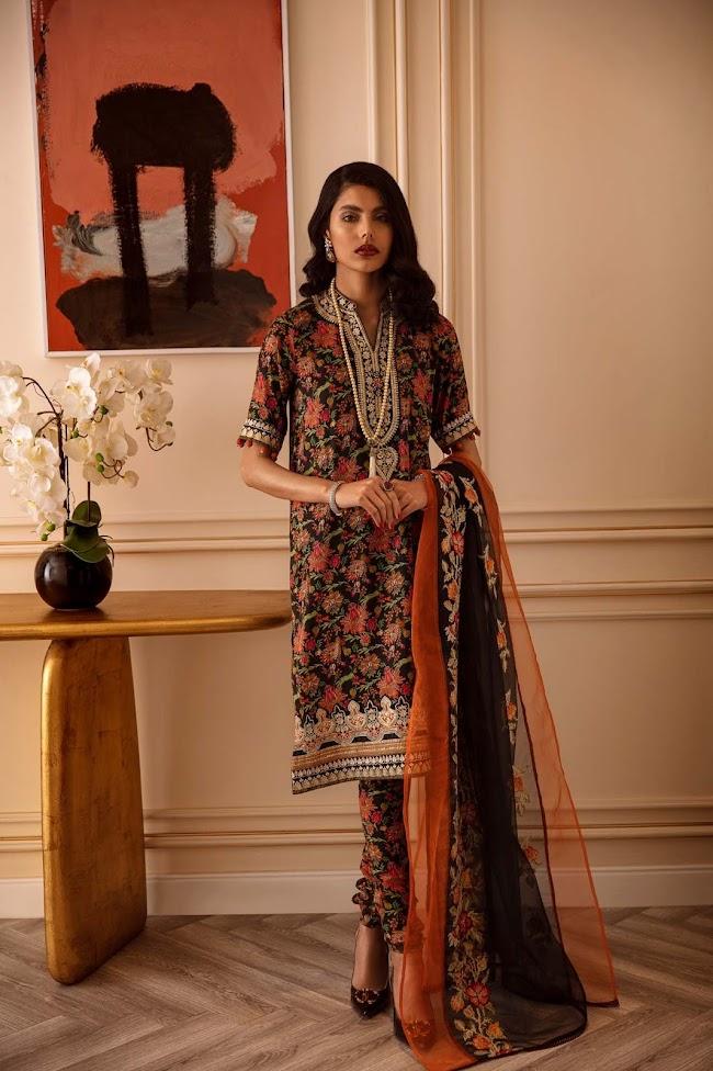 Ethnic Multicolour Viscose Suit