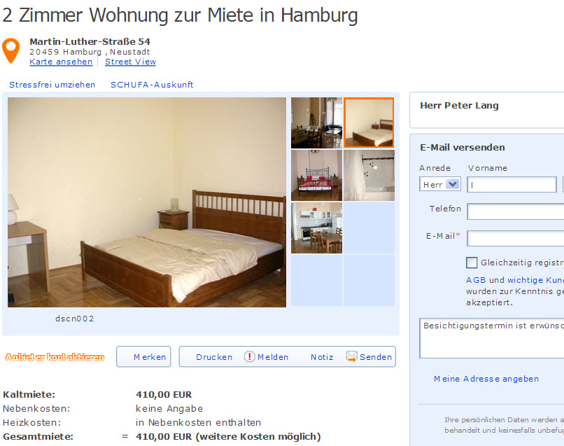 Peter lang34 for Wohnung zur miete