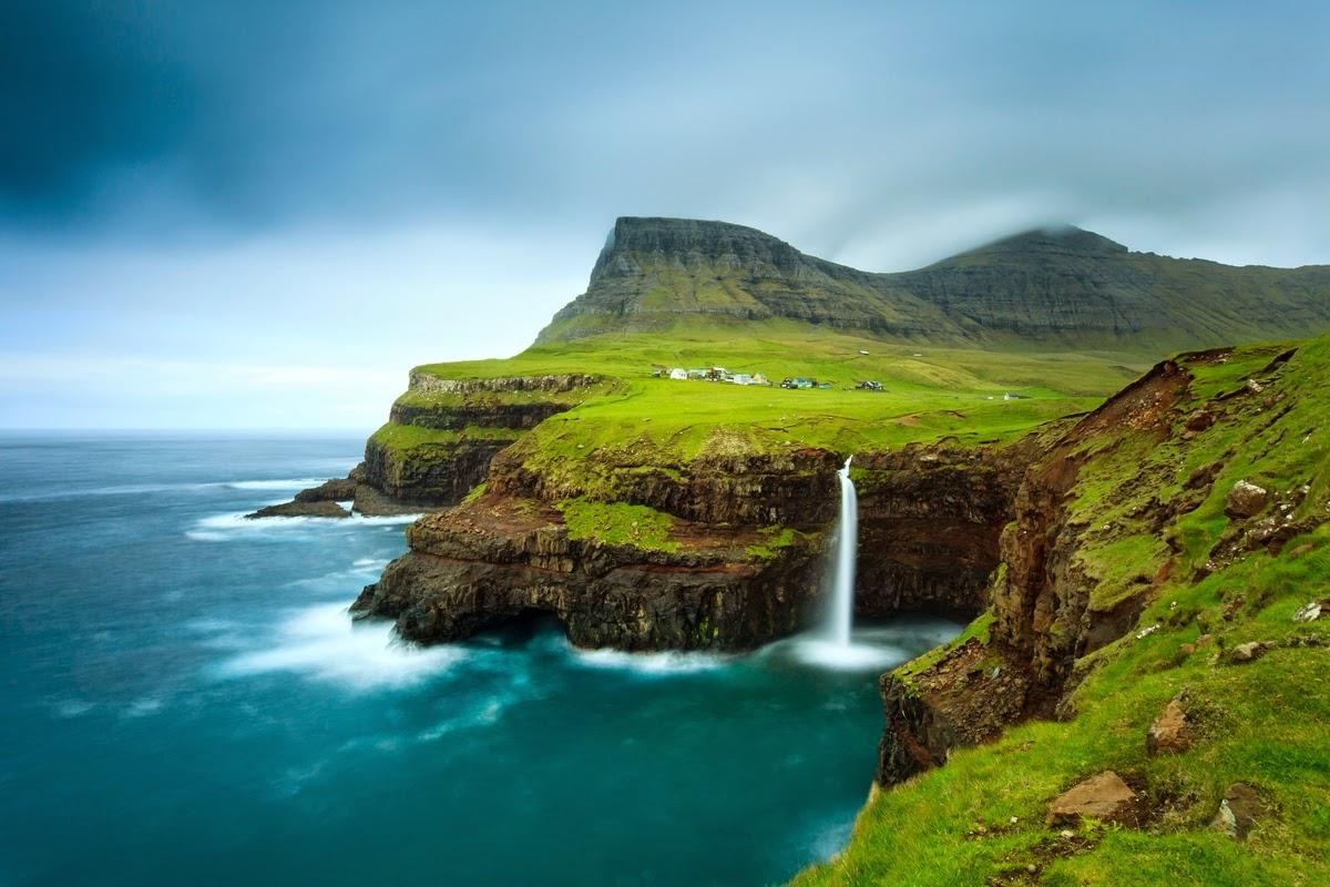 Villaggio di gasladur, isole Faroe