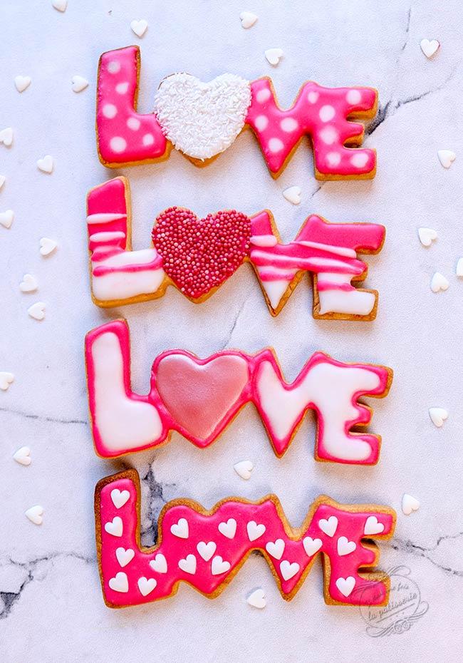 biscuits décorés saint valentin