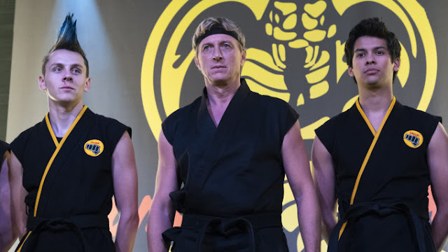Hawk, Johnny, and Miguel in Cobra Kai