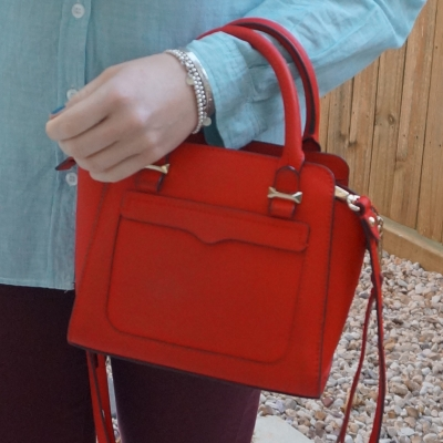 Rebecca Minkoff red micro Avery cross body bag | away from the blue