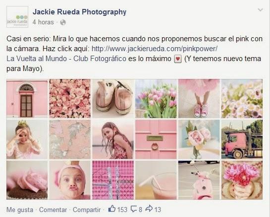 La vuelta al mundo de abril; rosa/rosado/pink