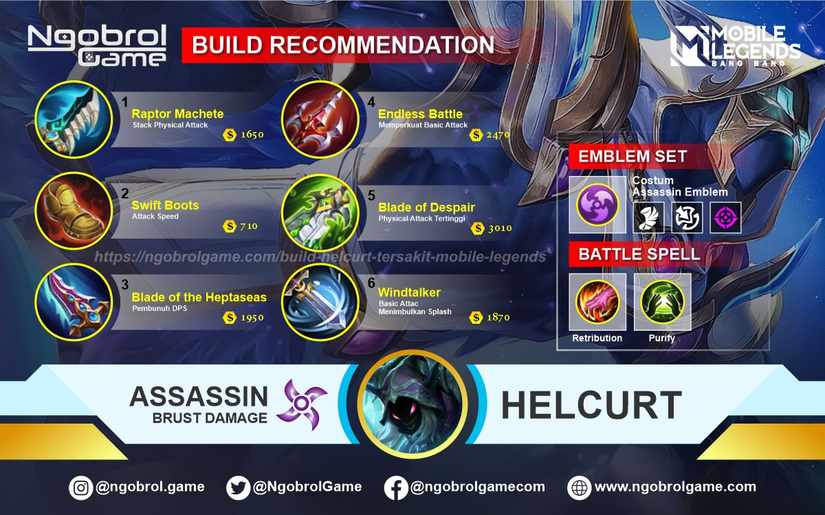 Build Helcurt Top Global Tersakit Mobile Legends