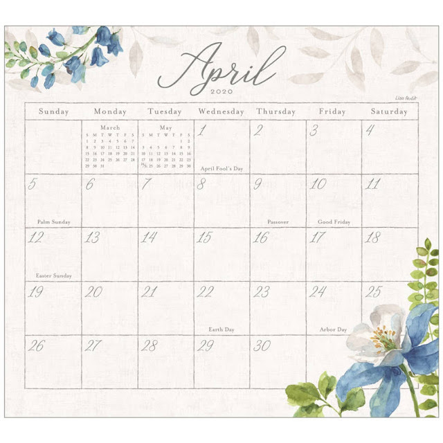 The flowers depicted on this beautiful magnetic calendar pad will inspire you year long.