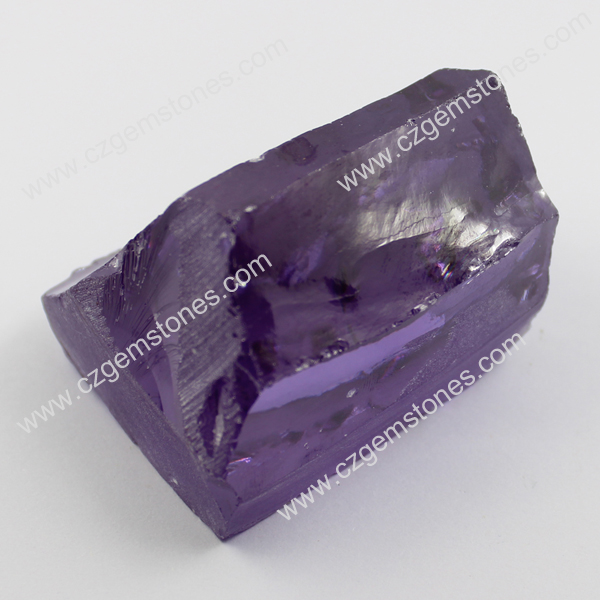 lavender cubic zirconia rough wholesale