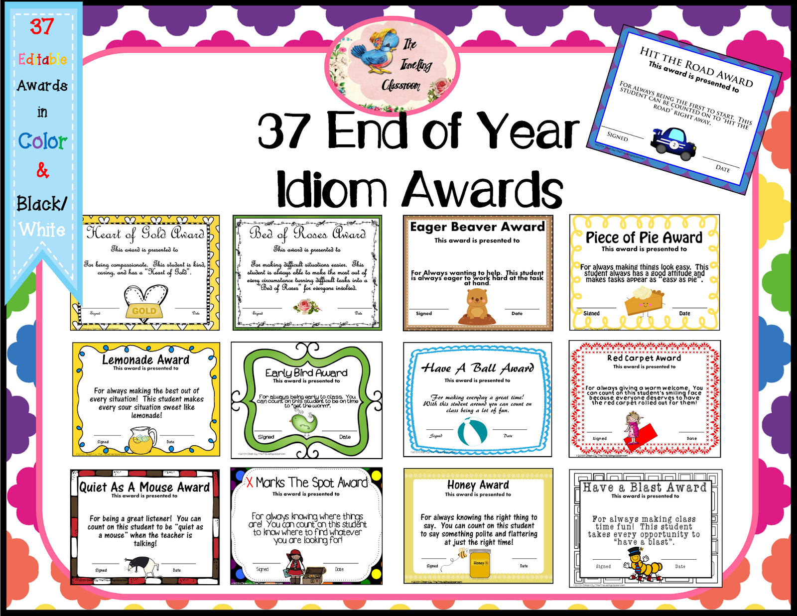 The Traveling Classroom: End of the Year Idiom Awards