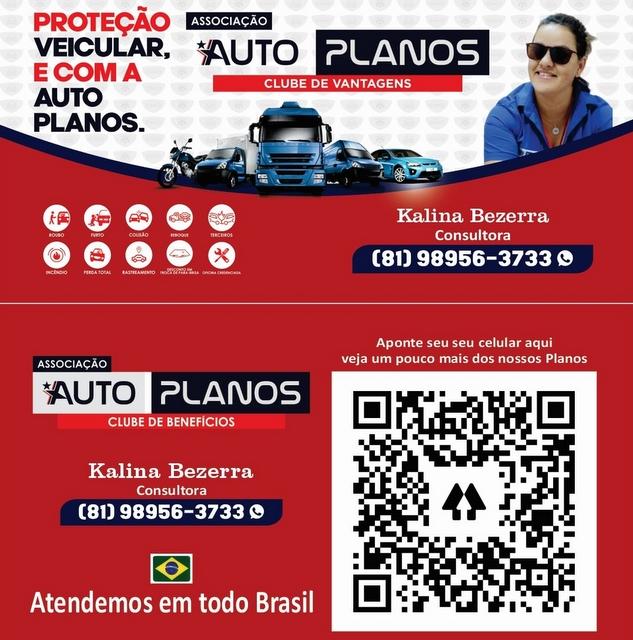Proteção veicular é com a Auto Planos, fale com a consultora Kalina Bezerra