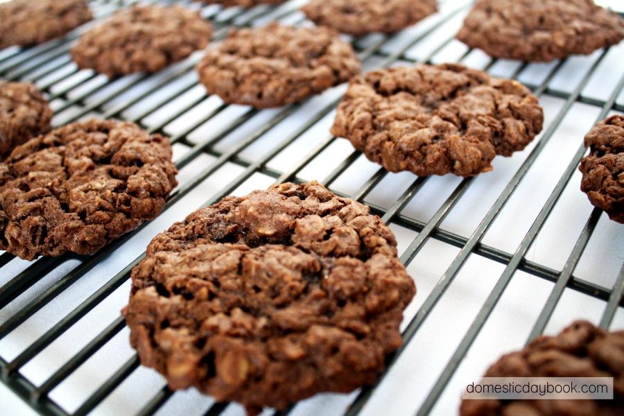 Chewy Oatmeal Chocolate Cookies