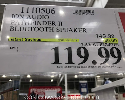 Deal for the Ion Pathfinder 2 Bluetooth Speaker at Costco