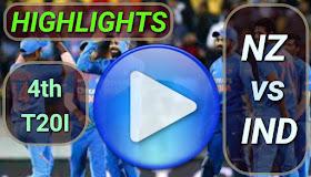 NZ vs IND 4th T20I 2020