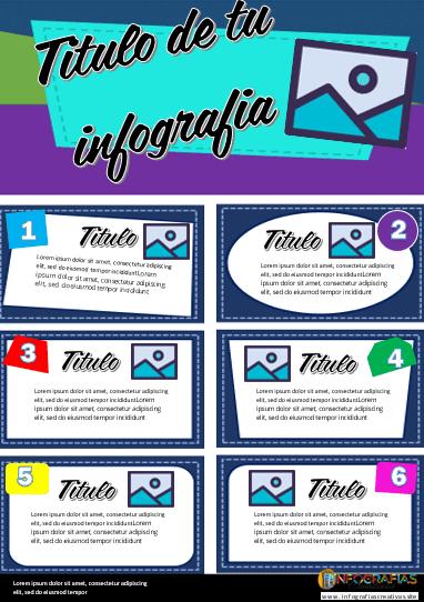 Plantilla para Infografia en Word modelo 04