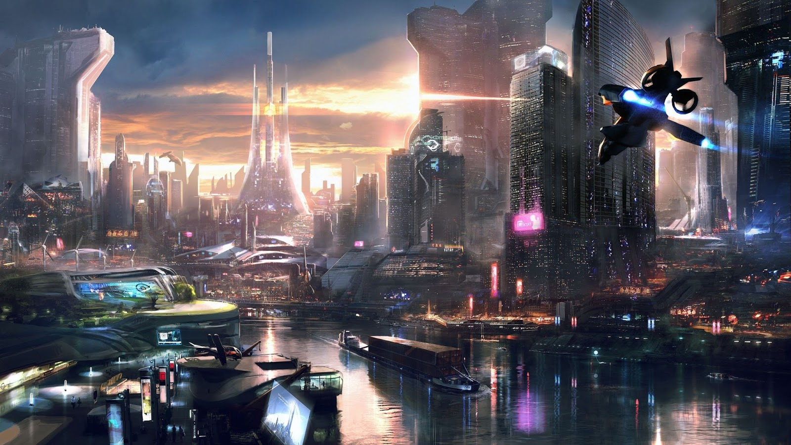 Beautiful Remember Me Science Fiction Cityscape Wallpaper
