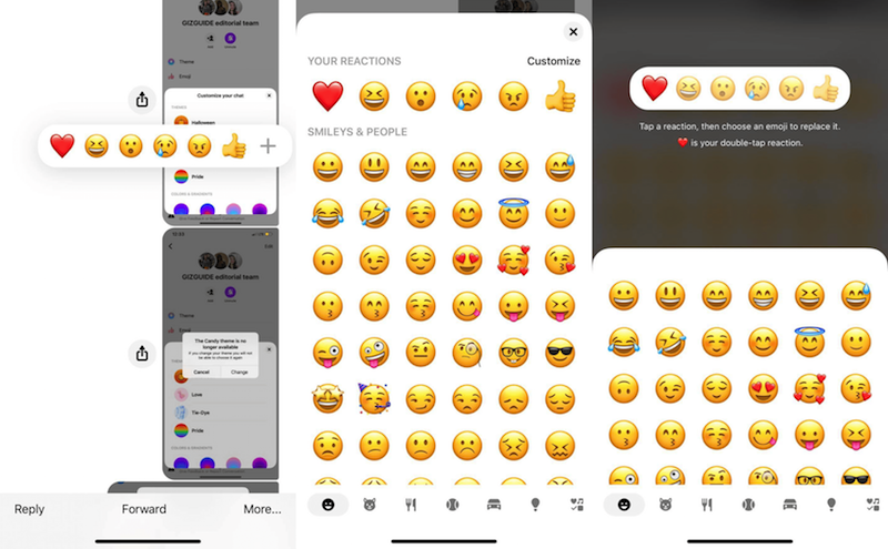 How to customize chat reactions on new Messenger