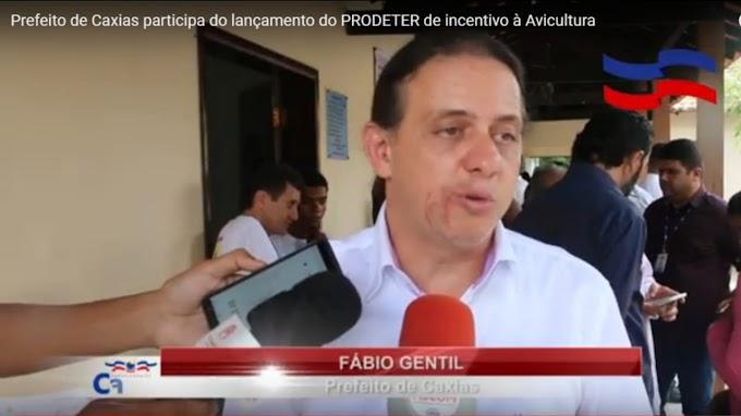Prefeito de Caxias participa do lançamento do PRODETER de incentivo à Avicultura na Região dos Cocais