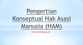 Pengertian Konseptual Hak Asasi Manusia (HAM)