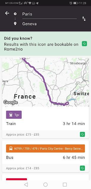 Aplikasi Rome2Rio sangat membantu saya mengatur perjalanan di Paris
