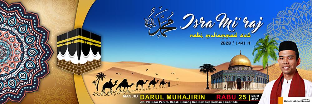 Desain Banner Spanduk Isra Mi'raj 2020 (1441 H) di ...