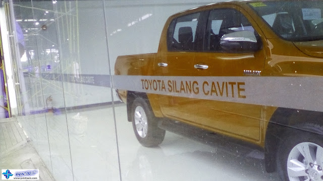 Frosted Glass Stickers - Toyota-Silang, Cavite