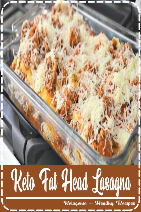 This delicious layered Fathead noodle dish can also freeze and reheat beautifully Keto Fat Head Lasagna