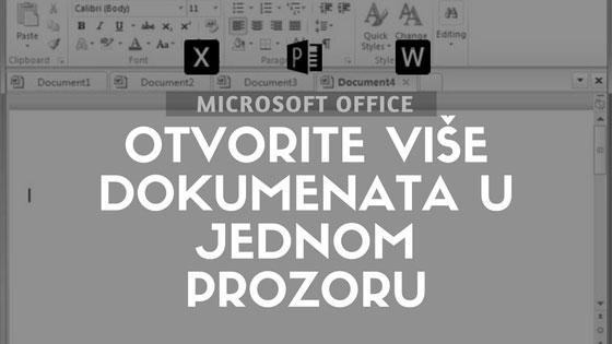 Microsoft Office: Otvorite više dokumenata u jednom prozoru