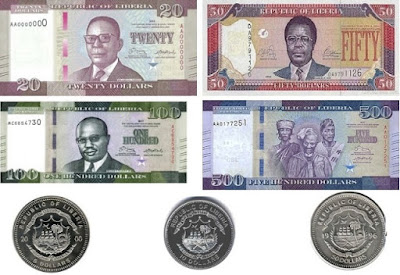 Countries and Currency Liberian Dollar