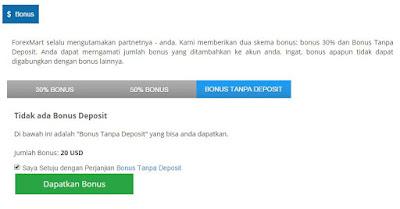 no deposit bonus forexmart