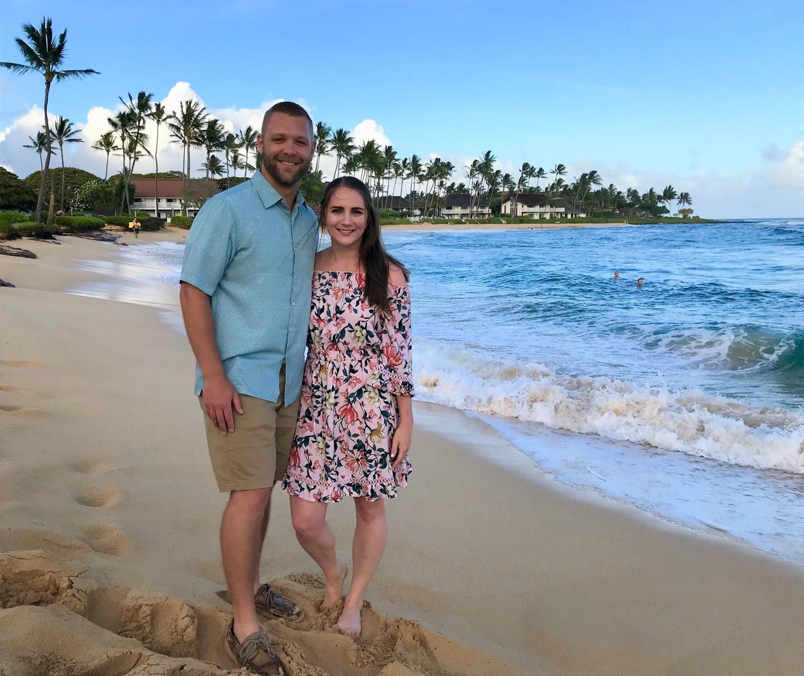 6 Days Itinerary in Kauai | Beach outside of Sheraton in Kauai | What to do in Kauai | A Memory of Us