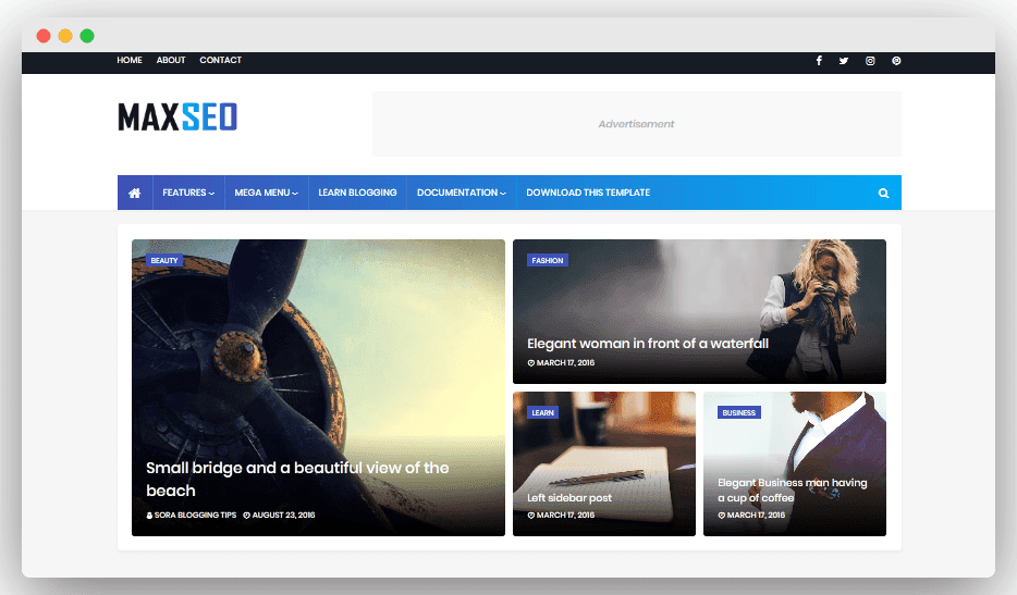 MaxSeo - SEO Friendly Blogger Template 2020 Free Download