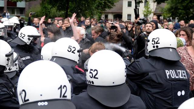 Más de 8000 personas protestan en Hamburgo contra cumbre del G20