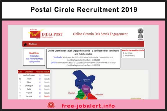 Postal Circle Recruitment 2019: Application for post of Odisha Postal Circle Recruitment 2019- 4392 Rural Post Office (GDS)