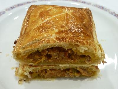 Empanada hojaldrada de carne