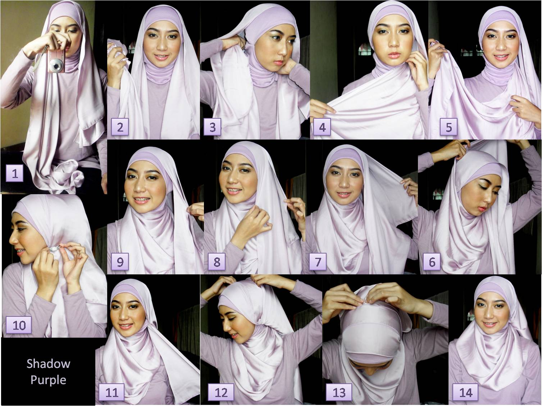 24 Koleksi Tutorial Hijab Paris Wajah Kotak Tahun Ini Tutorial
