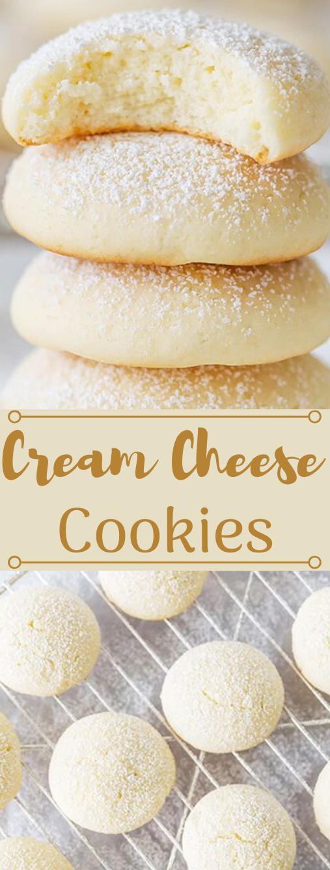 CREAM CHEESE COOKIES  #desserts #cakes #cookies #bars #pumpkin