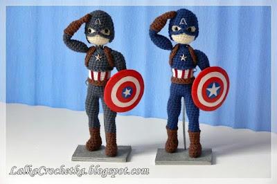http://lalkacrochetka.blogspot.com/2016/07/captain-america-doll-lalka-kapitan.html