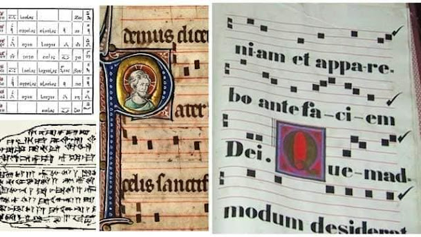 Một bản nhạc được ký âm của người xưa còn lưu lại