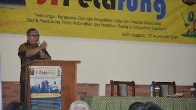 Bupati Sukabumi; Sistem Informasi Geospasial Untuk Pengelolaan Pertahanan Terpadu