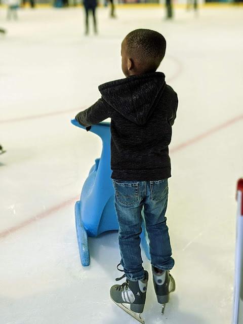 preschooler ice skating at AdventHealth Center Ice
