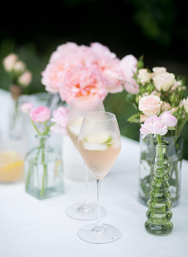 Rosé cocktail: Lime Rosé Spritzer