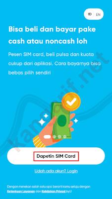 klik dapetin sim card