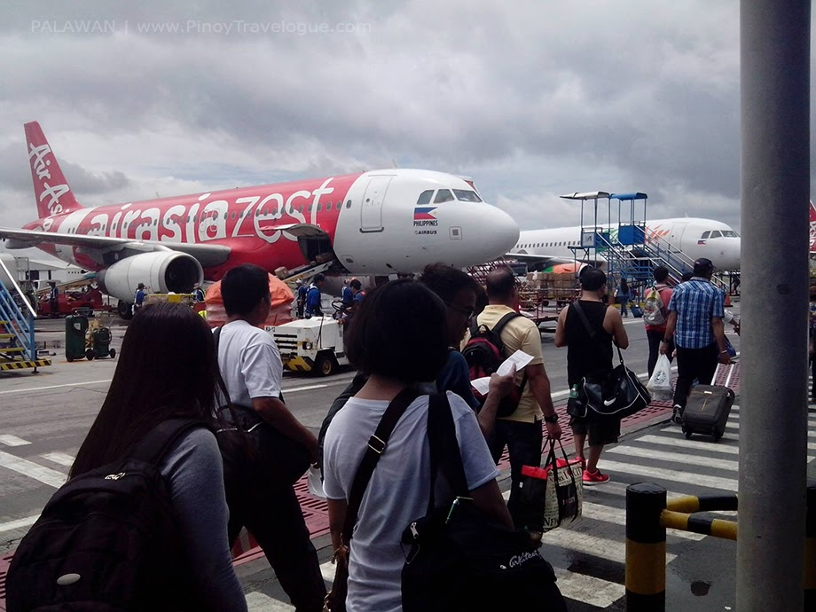 Boarding at an Air Asia plane