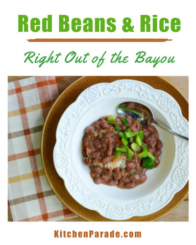 Red Beans & Rice, another slow-cooked healthy dinner ♥ KitchenParade.com. Meaty or Vegan. Weight Watchers Friendly. High Protein. Great for Meal Prep.